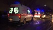 MEHMET KARACA - Esenler'de Sebze Yüklü Kamyonete Çarpan Otomobil Alev Aldı