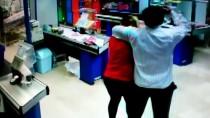 REHİN - Markette Bıçaklı Soygun Güvenlik Kamerasında