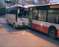 ATATÜRK EĞİTİM VE ARAŞTIRMA HASTANESİ - Minibüs Önce 2 Otomobile Sonra Otobüse Çarptı Açıklaması 13 Yaralı