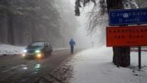 GİZLİ BUZLANMA - Balıkesir Ve Kütahya'da Kar Yağışı