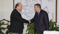 EĞERCI - Başkan Özakcan Meslektaşlarını Ağırladı