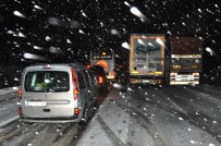 AĞIR VASITA - Keşan'da Kar Yağışı
