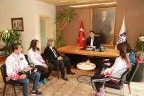 AVRUPA ŞAMPİYONU - Şampiyon Sporculardan Başkan Kocadon'a Ziyaret