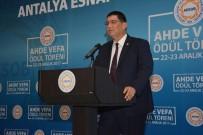 TÜRKIYE ESNAF VE SANATKARLAR KONFEDERASYONU - AESOB, Ahde Vefa Ödül Töreni'nde Oda Başkanlarını Ödüllendirdi