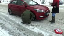 BAĞBAŞı - Denizli'de Kar Yağışı