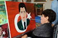 ÇOCUK FELCİ - Ağzıyla 15 Temmuz Şehidi Ömer Halis Demir'in Resmini Çizdi