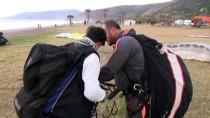 YAMAÇ PARAŞÜTÜ - Gazipaşa Selinus Plajı'nda Yamaç Paraşütü Yer Çalışması Yapıldı