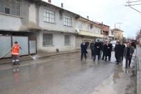 KALDIRIM ÇALIŞMASI - Başkan Şahin Açıklaması 'Çetinkaya'da Eksiklikler Tamamlanacak'