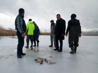 İLKBAHAR - Van'da 'Eskimo' Usulü Balık Avı