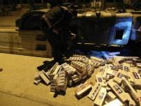 YAKIT DEPOSU - Yakıt Deposundan 7 Bin Paket Kaçak Sigara Çıktı