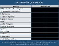 ANAYASA DEĞİŞİKLİĞİ - MTM, 2017 Yılında Gündemi Belirleyen Olayların Medya Raporunu Açıkladı