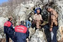 SELAMET - 6 Gündür Kayalıklara Sıkışan Avcı Köpeği Kurtarılmayı Bekliyor