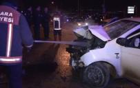 TRAFİK ÖNLEMİ - Aşırı Hız Ve Alkol Kaza Getirdi Açıklaması 2 Yaralı