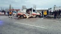 Çorum'da Ambulans Kaza Yaptı Açıklaması 1 Ölü, 3 Yaralı