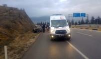 Isparta'da Otomobil Takla Attı Açıklaması 1 Yaralı