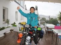TÜRKLER - Japon Turist 9 Yıldır Bisikletle Dünyayı Geziyor