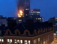 MANCHESTER - İngiltere'de 12 katlı binada yangın