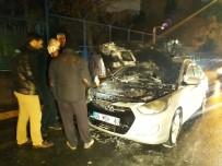 GÜLHANE - Park Halindeki Araç Alev Alev Yandı