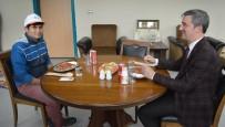 ENGELLİ GENÇ - Engelli Gencin Başkanla Yemek Yeme Hayali Gerçekleşti