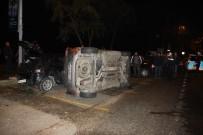 HAYDAR ALİYEV - Sarıyer'de Park Halindeki Aracın Üzerine Otomobil Devrildi Açıklaması 1 Yaralı