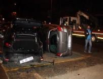 HAYDAR ALİYEV - Takla atan otomobil park halindeki otomobilin üzerine düştü