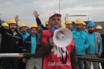 Bilecik'te Cam İşçileri Eylem Yaptı