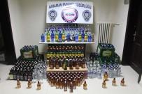 Karaman'da Çok Sayıda Kaçak İçki Ele Geçirildi