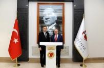 YÜKSEK HıZLı TREN - Litvanya'nın Ankara Büyükelçisi Brüzga, Vali Çakacak'ı Ziyaret Etti