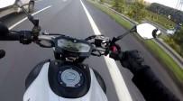 KURAL İHLALİ - (Özel) 150 Kilometre Hızı Geçen Motosikletlinin Estirdiği 'Trafik Terörü' Kamerada