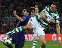 KENDİ KALESİNE - Barcelona, Sporting'e şans tanımadı!