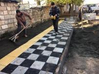 ASBEST - Eski Kahta Caddesinde Kaldırım Çalışması Başlatıldı