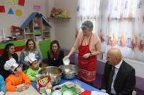 ALTıNOK ÖZ - Kreşli Minikler Mutfak Atölyesi'nde Maharetlerini Gösterdi