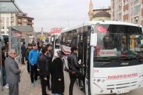 BELEDIYE OTOBÜSÜ - Cumhurbaşkanının Ziyaretine Belediyeden Ücretsiz Ulaşım