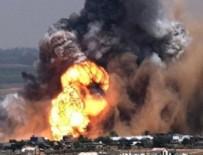 İşgalci İsrail Gazze'ye saldırdı