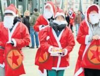NOEL BABA - Noel baba kılığında PKK propagandası