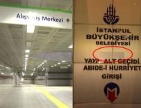 KUDÜS TAPıNAĞı - Şişli metrosundaki 'Trump' tabelaları kaldırıldı