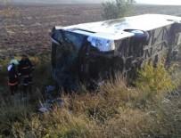 YOLCU OTOBÜSÜ - Yolcu otobüsü şarampole devrildi: Çok sayıda yaralı var