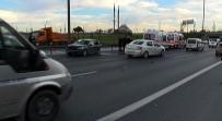 OKMEYDANı - TEM'de kaza: 4 polis yaralandı