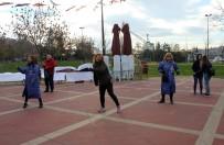 HAREKETSİZLİK - Kadınlar Kansere Karşı Zumba Dansı Yaptı