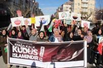 Karaman'da 'Kudüs' İçin Protesto Yürüyüşü Düzenlendi