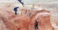 KURTARMA OPERASYONU - Maden İşçileri Çukurda Mahsur Kalan Köpeği Kurtardı