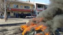 Bolu'da Nakliyeciler Lastik Yakarak Eylem Yaptı