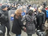 KHK protestosuna polis müdahale etti