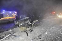 Polislerin Kullandığı Otomobiller Çarpıştı Açıklaması 1 Yaralı