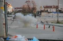 ŞÜPHELİ PAKET - Fethiye'de Şüpheli Paket Fünyeyle Patlatıldı