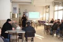 KADINA KARŞI ŞİDDET - Kıraathanede 'Kadına Şiddete Hayır' Eğitimi Verildi