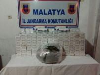İŞÇİ SERVİSİ - Malatya'da 7 Bin 300 Paket Kaçak Sigara Ve 348 Gram Esrar Ele Geçirildi
