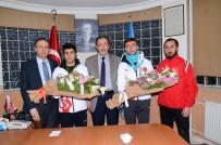 BUZ PATENİ - Milli Sporculardan Başkan Bulutlar'a Ziyaret