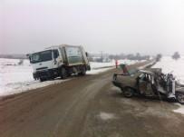 OSMAN AYDıN - Bilecik'te Otomobille Çöp Kamyonu Çarpıştı Açıklaması 1 Yaralı