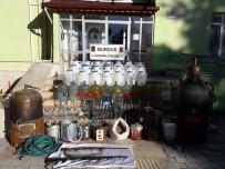 Burdur'da Sahte İçki İmalathanesine Baskın